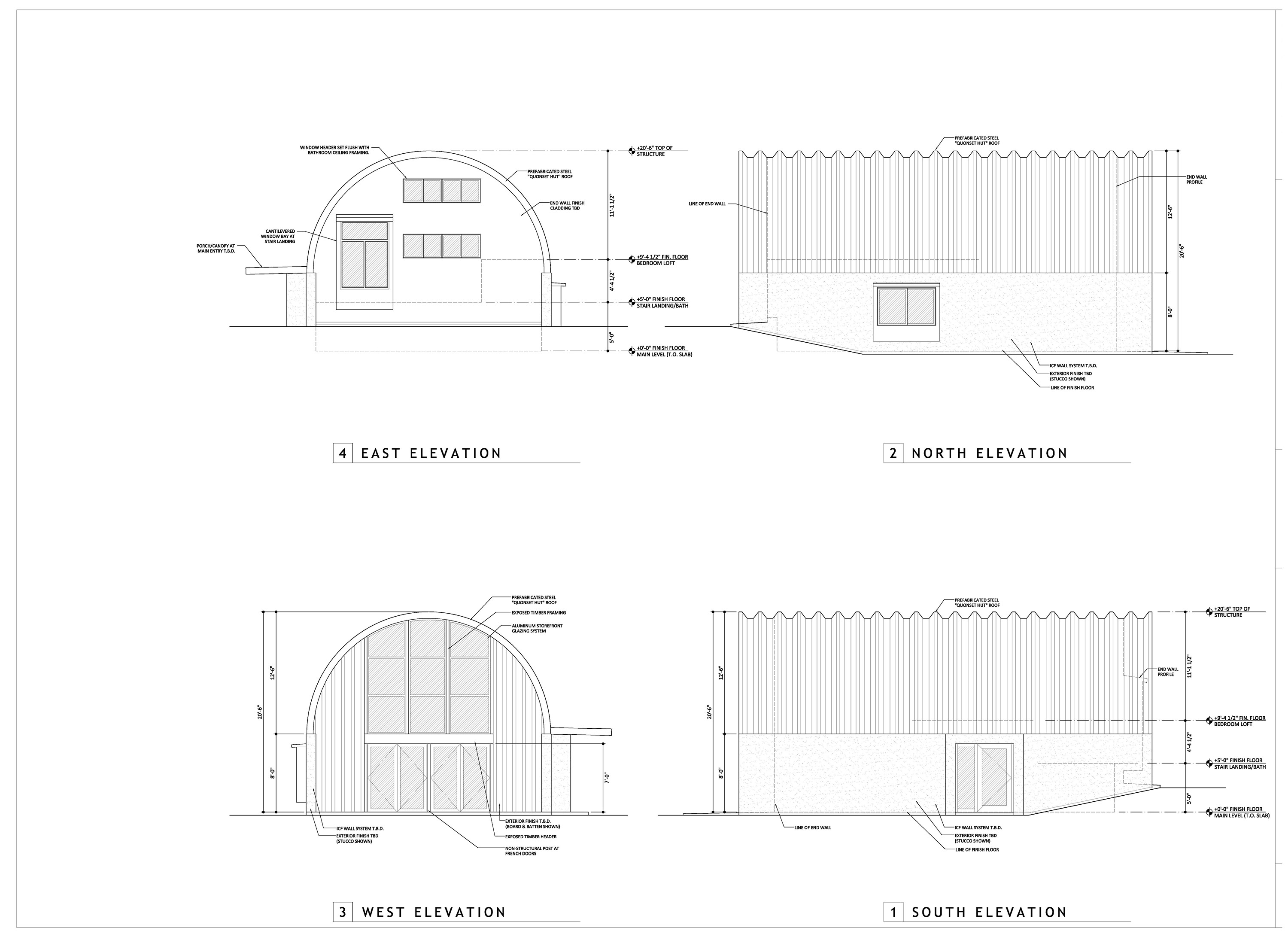 quonset house design loft guest house clever moderns here are the plans as we ve developed them thus far i will soon be releasing them as a downloadable pdf for free if you want to be notified when they drop