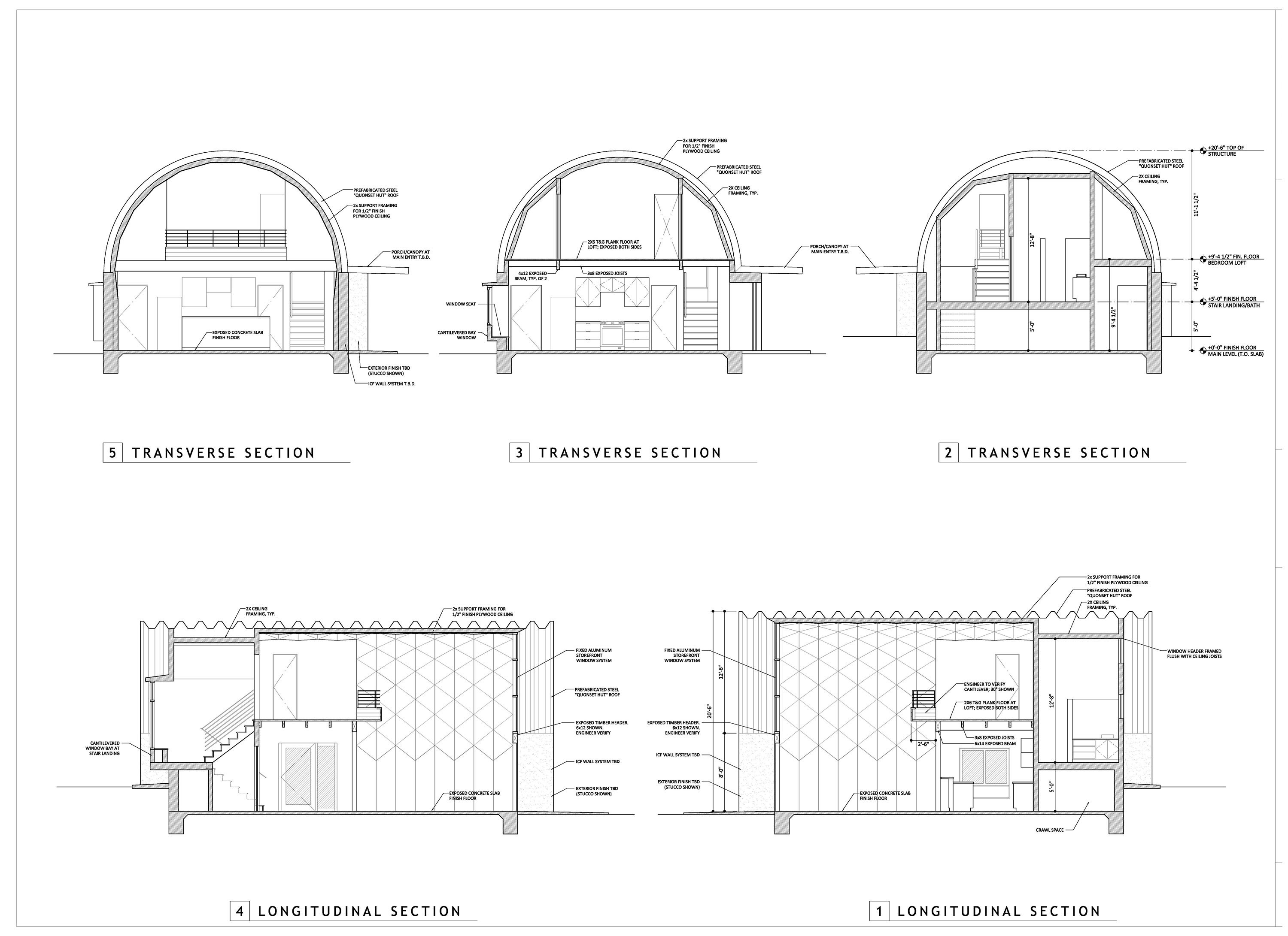 Stunning 60 quonset home design design inspiration of 143 for Hut type house design