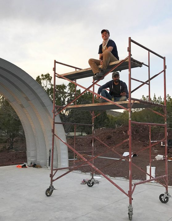 Clever Moderns Quonset Hut construction BuildTheQuompound