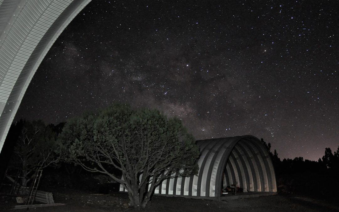 Quonset Huts Under the Milky Way