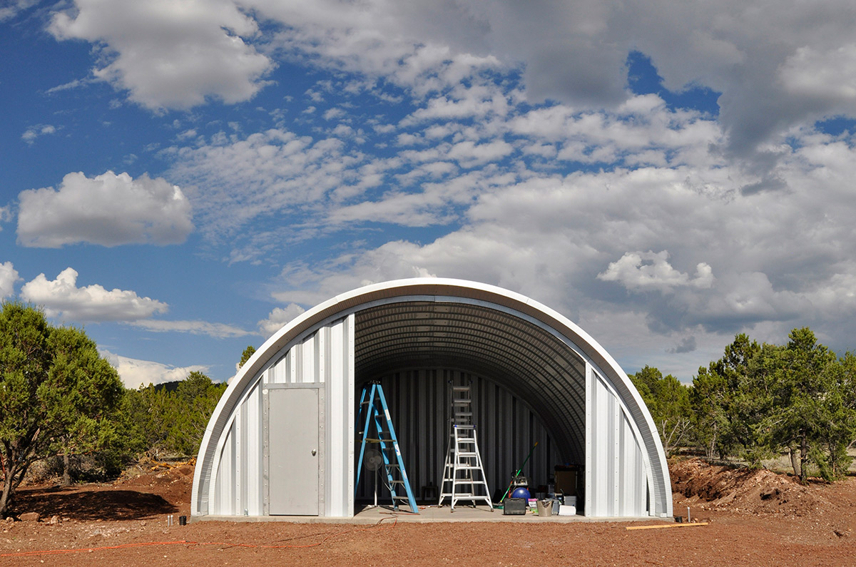 Quonset Hut End Wall Construction Clever Moderns