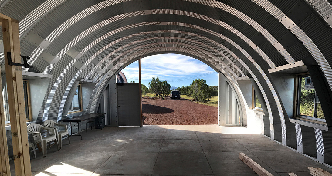 Quonset Hut Side Windows Installed Clever Moderns