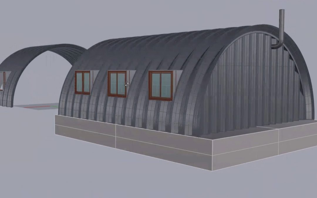 Side Windows for a Quonset Hut House