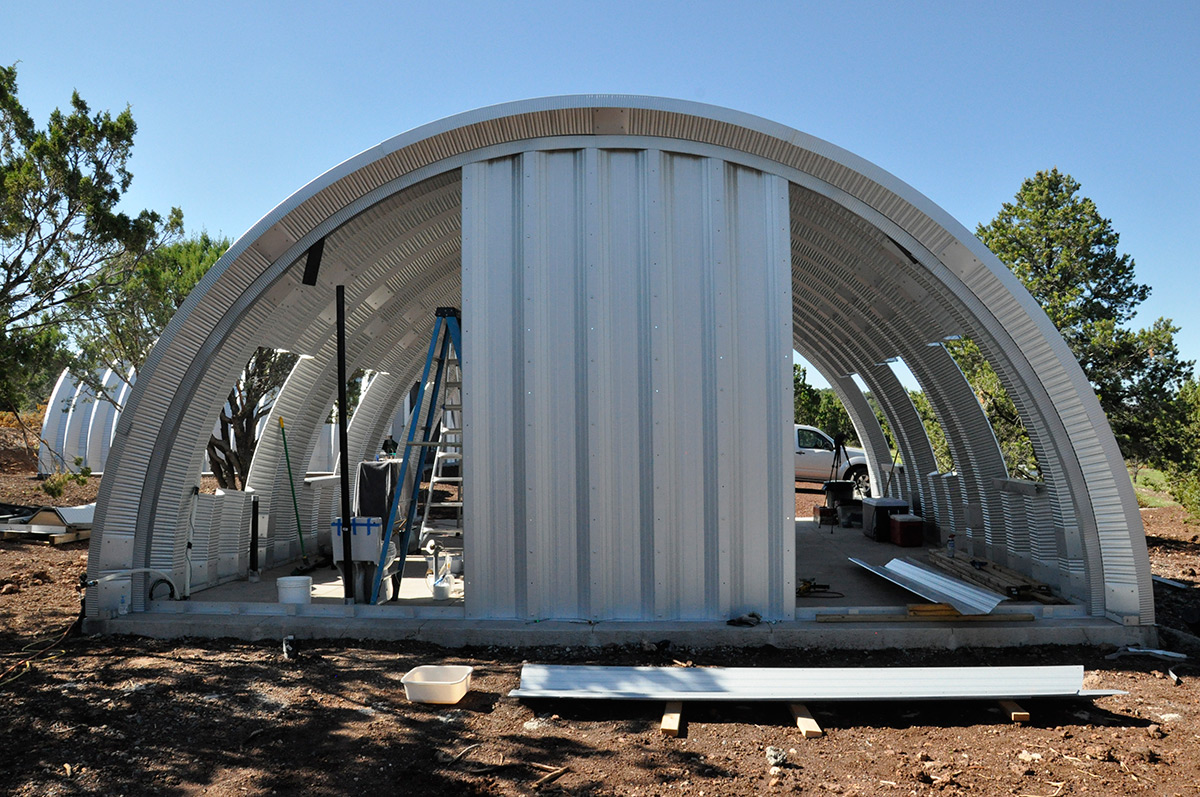 Wood framing in a metal quonset hut clever moderns for Quonset hut