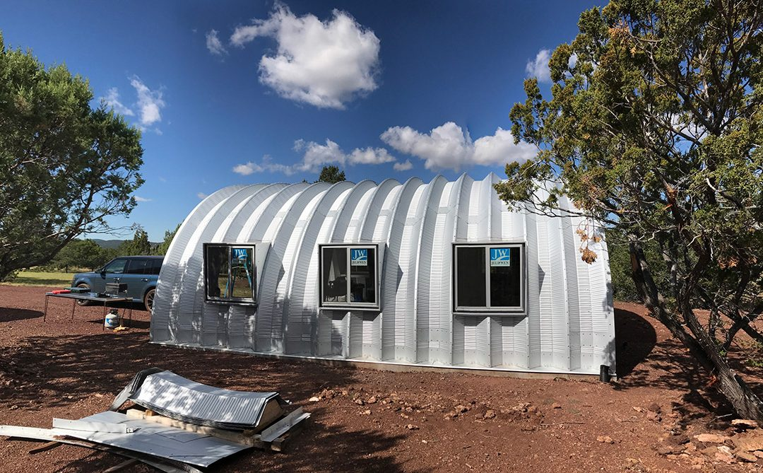 Quonset hut homes del mar house two level house in for Quonset hut