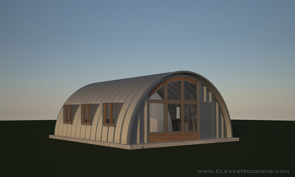 Side Window Studio Hut Plans