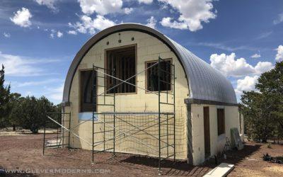 Quonset Loft House Window Installation