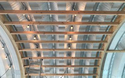 Quonset House HQ Hut Framing Progress